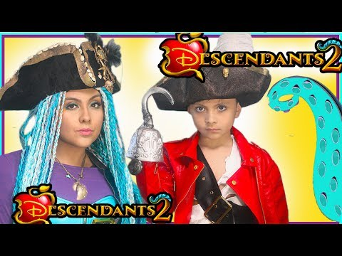 Disney Descendants 2 Uma and Harry Costume Makeup tutorial Princess what's my name  Halloween