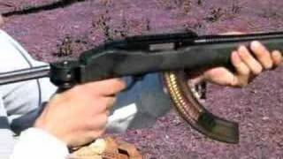 Ruger 10-22 full auto..close up of the bolt running