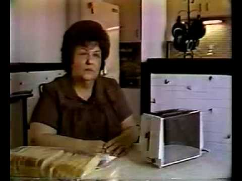 A woman and her haunted toaster.