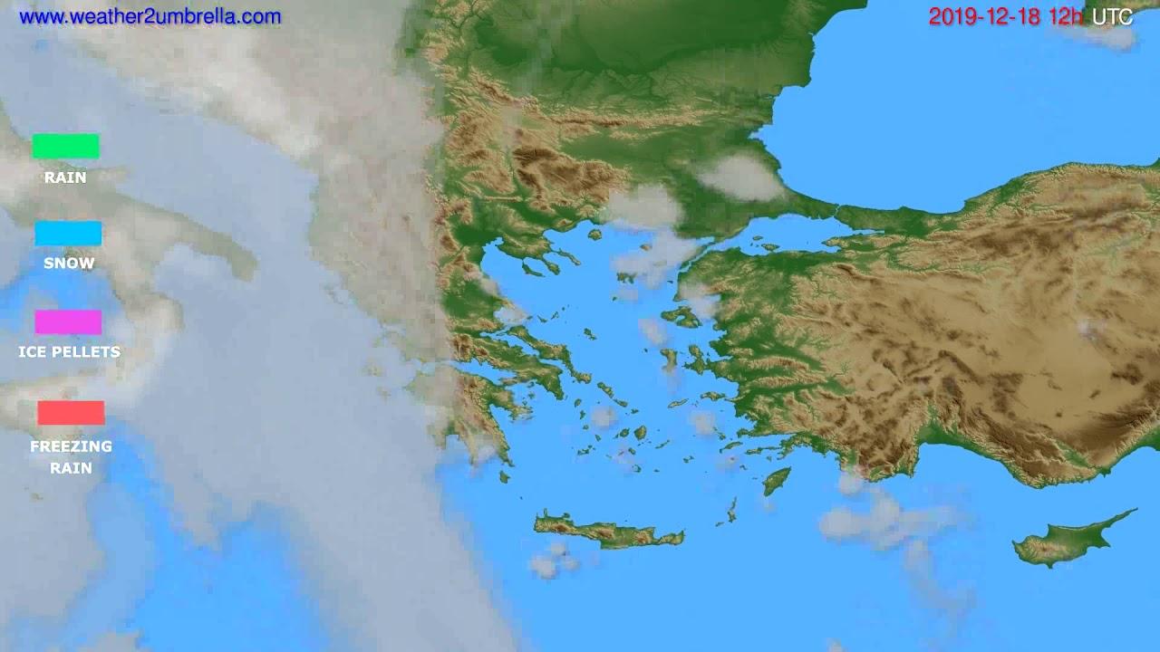 Precipitation forecast Greece // modelrun: 12h UTC 2019-12-17