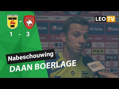 Daan Boerlage na SC Cambuur - FC Oss