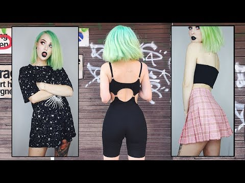 Try On Clothing Haul EDGY & CUTE | Evelina Forsell (видео)