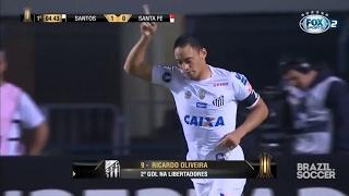 Melhores Momentos - Santos 3 x 2 Santa Fé - Libertadores - 04/05/2017