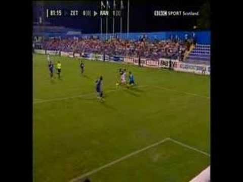 Su primer gol con los Glasgow Rangers