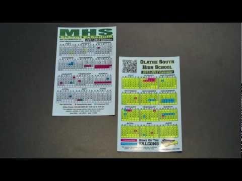 School Calendar Magnets