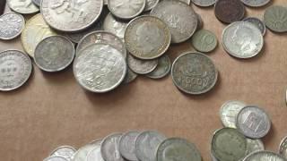 lote de moedas de prata