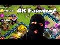 Clash of clans - Farming @ 4k trophies ( Let's clean house!)