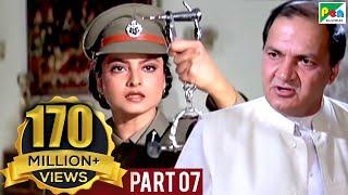 Phool Bane Angaray (1991 )   Rekha, Rajinikanth   Hindi Movie Part 7 of 9