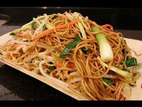(HD) RECIPE: Vegetarian / Non - Vegetarian Chow Mein 素豉油王炒麵