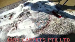 Process Of Washing Persian Carpet At Amin Carpets