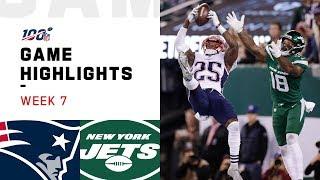 Patriots vs. Jets Week 7 Highlights | NFL 2019