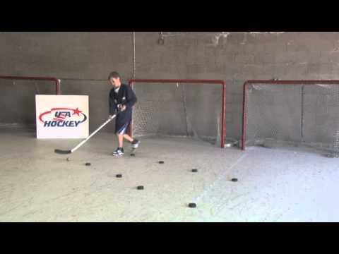 12U Off Ice Puck Handling Wide Dribble – Hockey Drills