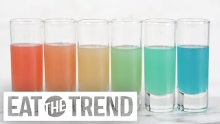 Learn the Magical Trick to Pouring Rainbow Shots! | Eat the Trend by POPSUGAR Food