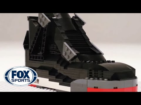 Air Jordan IV sneakers built entirely of LEGO