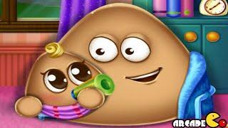 Video Pou Has a Baby Funny Pou Baby Caring Games MP3, 3GP, MP4, WEBM, AVI, FLV Desember 2017