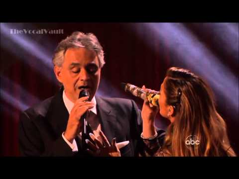 Andrea Bocelli and Jennifer Lopez...