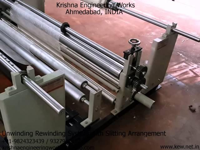 Unwinding Rewinding System with Slitting Arrangement – Krishna Engineering Works