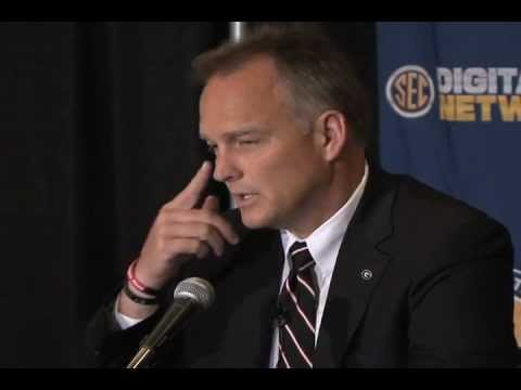 0 Georgia Head Coach Mark Richt at 2012 SEC Media Days