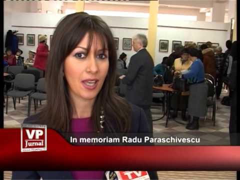 In memoriam Radu Paraschivescu