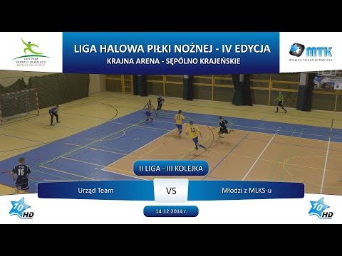 II Liga - III Kolejka: Urząd Team - Młodzi z MLKS-u 3:4, 14.12.2014 r.