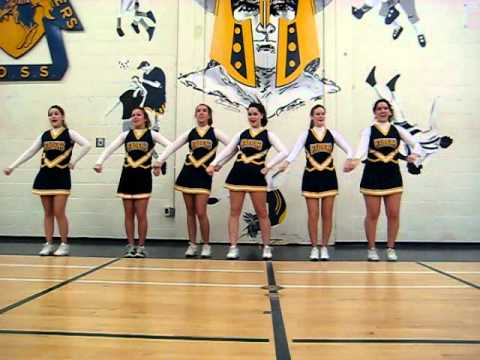 sideline cheers - The seniors from the 2011-2012 Raider Cheer team show off some of the sideline cheers we use during home football games and our school song that we perform a...