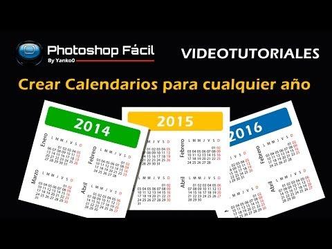 Generar Calendarios para cualquier año Photoshop Fácil Yanko0