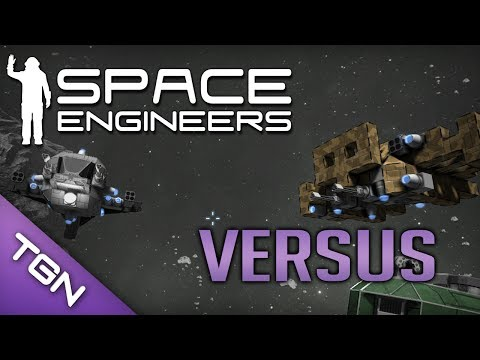 Space Engineers : Fighter Ship Showdown #2 - The Paladin vs The Little Doe (видео)