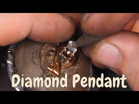 Diamond pendant handmade by Andreeadesign Jewellery