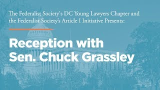 Click to play: Reception with Senator Chuck Grassley