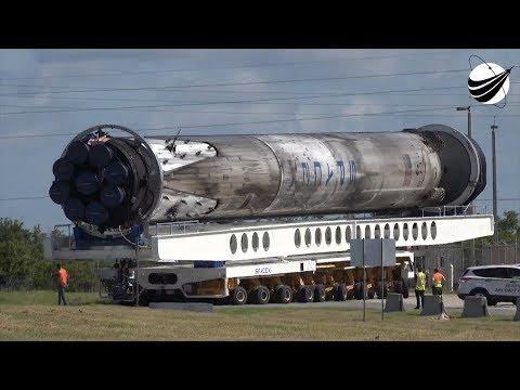 SpaceX - B1046 Transport To Third Flight   08-13-2018_Űrhajó videók