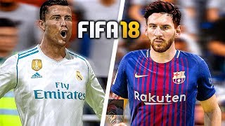 FIFA 18 Gameplay BARCELONA vs REAL MADRID [1080p HD 60FPS] EL CLASICO WORLD CLASS MODE