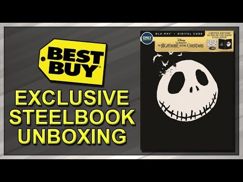 The Nightmare Before Christmas Best Buy Exclusive 25th Anniversary SteelBook Unboxing