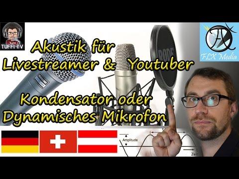 Equipment für Livestreamer: Großmembran Kondensator oder dynamisches Mikrofon [GER 1080]