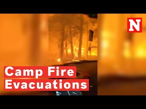 Thousands Ordered To Evacuate As Northern California's Camp Fire Spreads