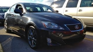 2008 Lexus IS 250 Start Up, Quick Tour,&Rev With Exhaust View - 84K