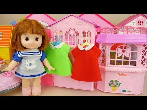Baby doll dress and house toys baby Doli play
