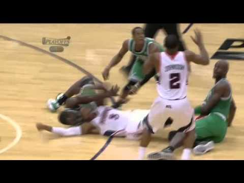 Rajon Rondo Ejected For Bumping Referee - Celtics vs. Hawks - 2012 Playoffs