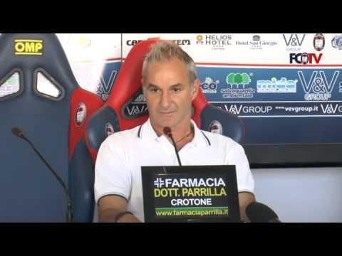 Crotone-Virtus Lanciano, Massimo Drago in conferenza