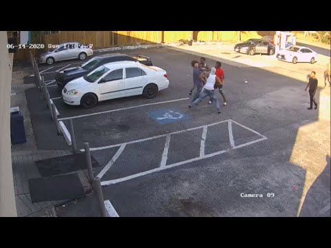 Man badly beaten outside gas station
