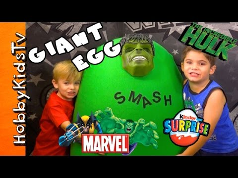 Hulk - This IDEA CREATED by HobbyKidsTV. Awesome Hulk egg full of surprise toys + Marvel Super Heroes Villains. We DONATE toys to our local community children, HobbyFriends, and Goodwill. Visit a...