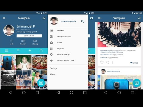 design - Here my concept of how instagram would look with material design. Material design is the next step in Google's design evolution for Android. *This is a 60fps video but I guess Youtube has...