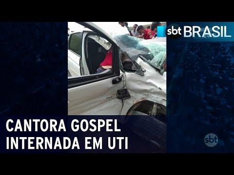 Cantora gospel Amanda Wanessa está internada em UTI no Recife   SBT Brasil (05/01/21)