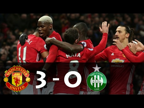 Manchester United vs Saint-Etiene 3 - 0 • Goals and Highlights • Europa League 16/02/2017