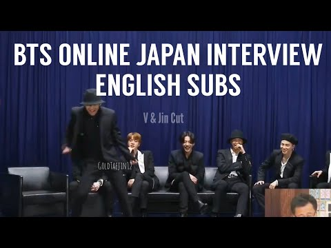 BTS ONLINE INTERVIEW Japan FanCafe Special MOTS7 The Journey 200801 - V Jin Cut Eng Subs/English Sub