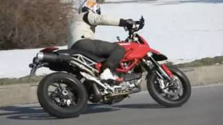 7. Ducati Hypermotard Evo on the road
