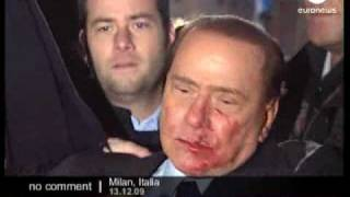 Berlusconi Attack - No comment