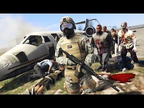 ZOMBIE APOCALYPSE! (GTA 5 Mods) (видео)