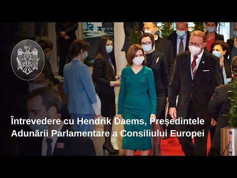Președintele Maia Sandu s-a întâlnit, la Strasbourg, cu Președintele APCE, Hendrik Daems