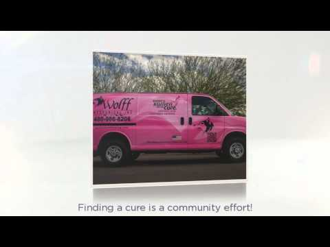 Wolff Mechanical Pink Van HVAC Services Benefit Breast Cancer Charity, Susan G. Komen For the Cure®