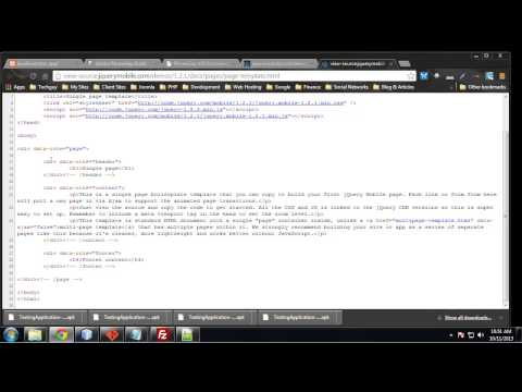 Learn to Build Mobile Apps from Scratch - Chapter 21 - JQuery Mobile \u0026 Read Directory